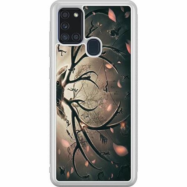 Samsung Galaxy A21s Soft Case (Frostad) Deer