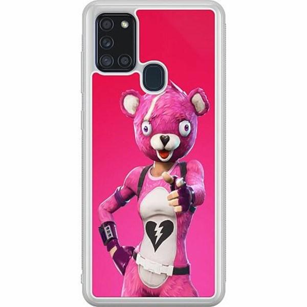 Samsung Galaxy A21s Soft Case (Frostad) Fortnite Pink Bear