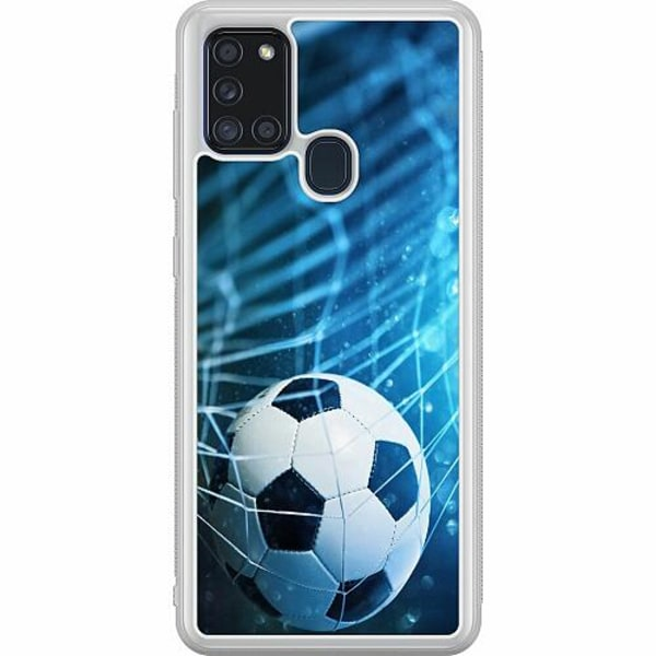 Samsung Galaxy A21s Soft Case (Frostad) Fotboll