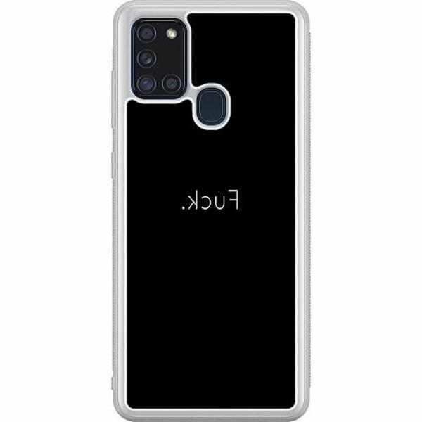 Samsung Galaxy A21s Soft Case (Frostad) >FUCK<