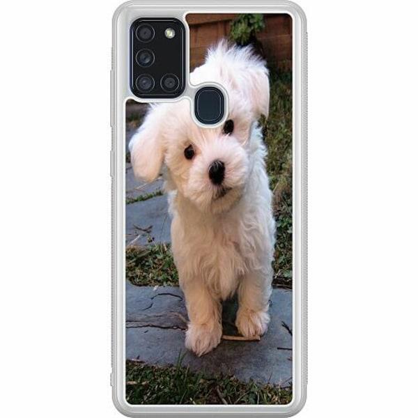 Samsung Galaxy A21s Soft Case (Frostad) Hund