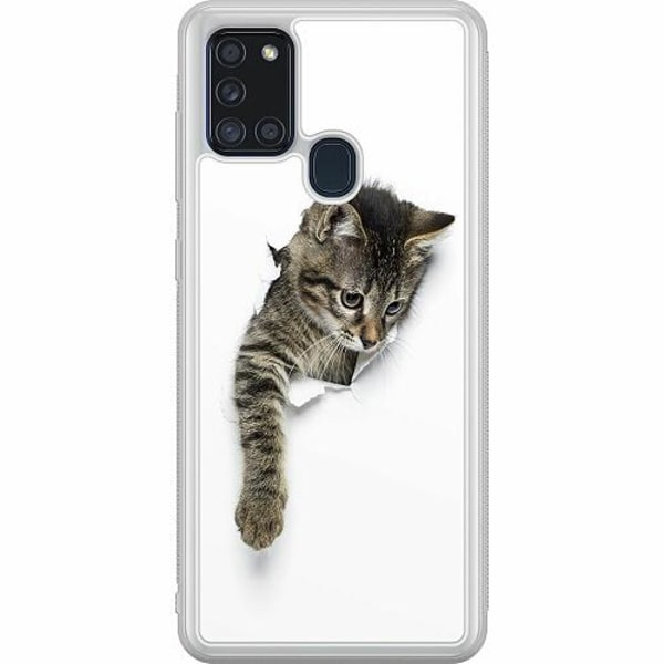 Samsung Galaxy A21s Soft Case (Frostad) Katt