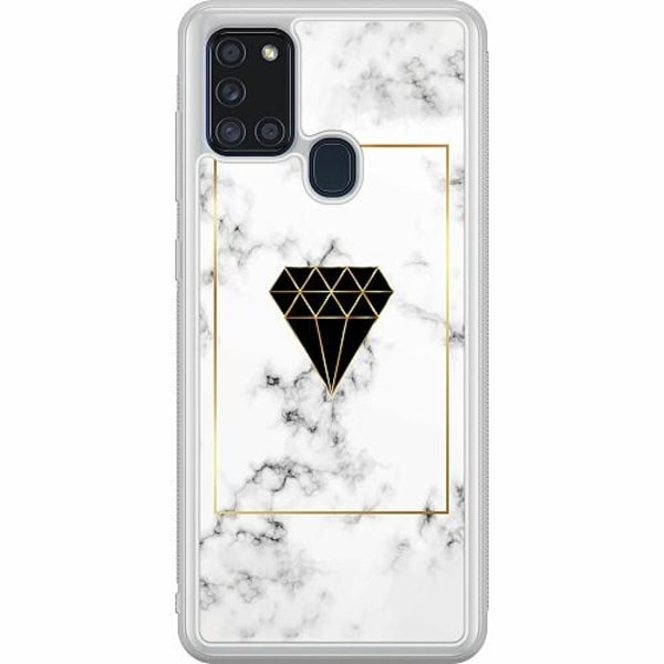 Samsung Galaxy A21s Soft Case (Frostad) Marble Diamond