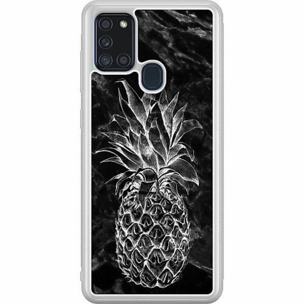 Samsung Galaxy A21s Soft Case (Frostad) Marmor Ananas