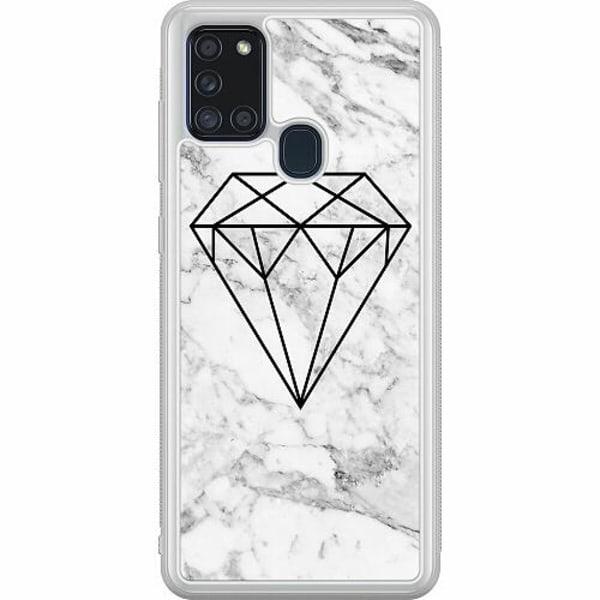 Samsung Galaxy A21s Soft Case (Frostad) Marmor Diamant