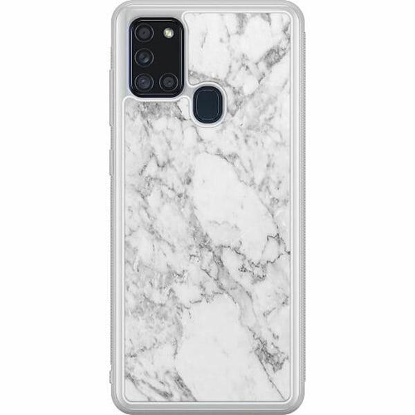 Samsung Galaxy A21s Soft Case (Frostad) Marmor Vit