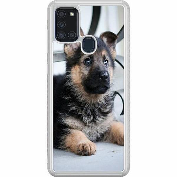 Samsung Galaxy A21s Soft Case (Frostad) Schäfer Puppy
