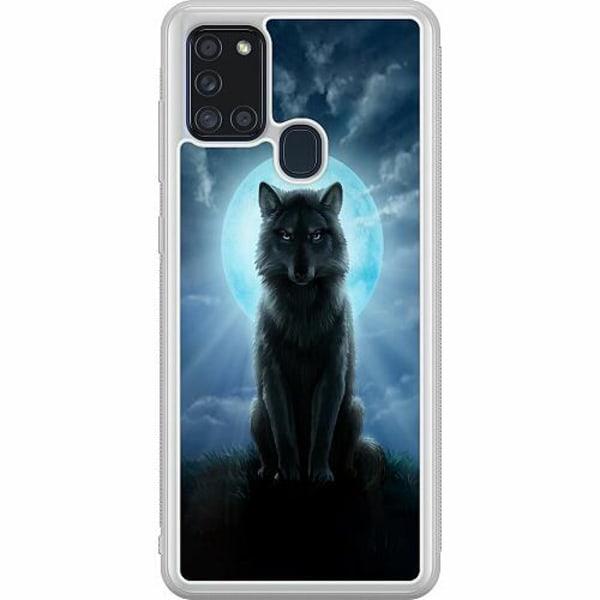 Samsung Galaxy A21s Soft Case (Frostad) Wolf in the Dark