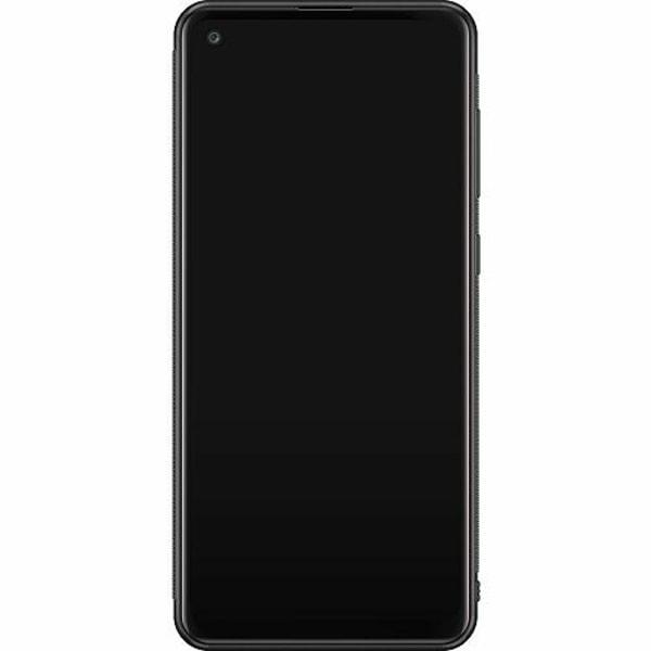 Samsung Galaxy A21s Soft Case (Svart) Happy Bear With Tiny Pig