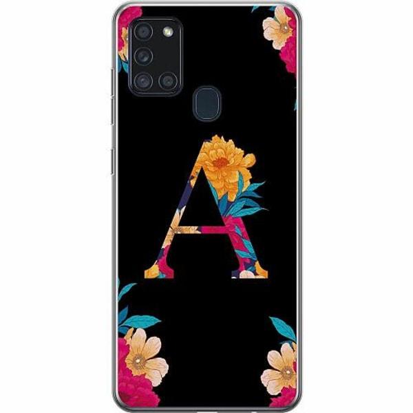 Samsung Galaxy A21s Thin Case Bokstaven - A