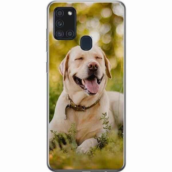 Samsung Galaxy A21s TPU Mobilskal Happy Labrador Retriever