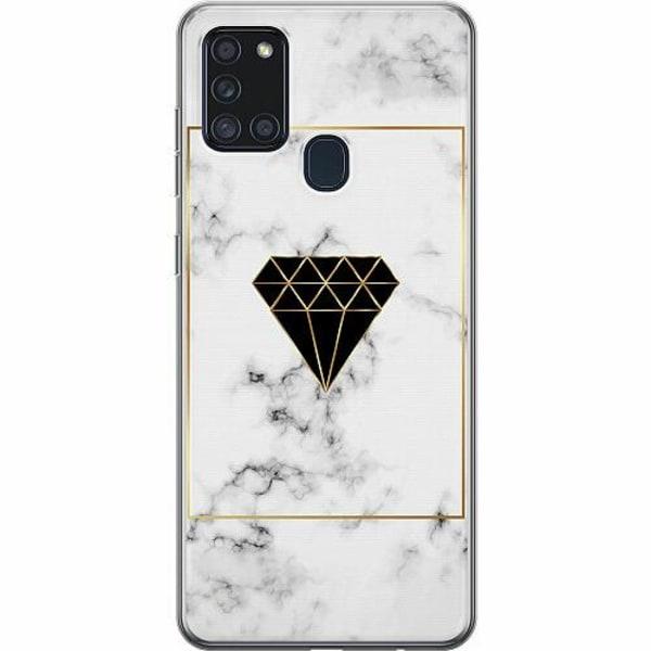 Samsung Galaxy A21s Thin Case Marble Diamond