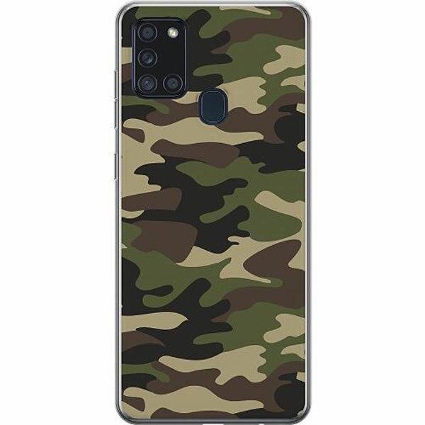 Samsung Galaxy A21s Thin Case Militär