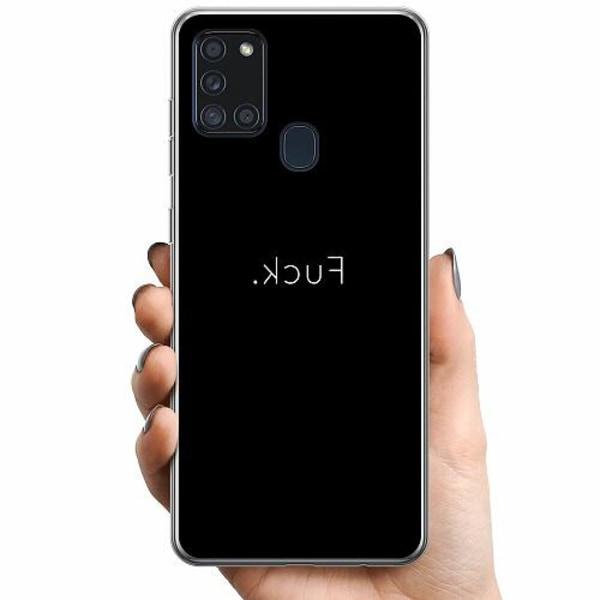 Samsung Galaxy A21s TPU Mobilskal >FUCK<