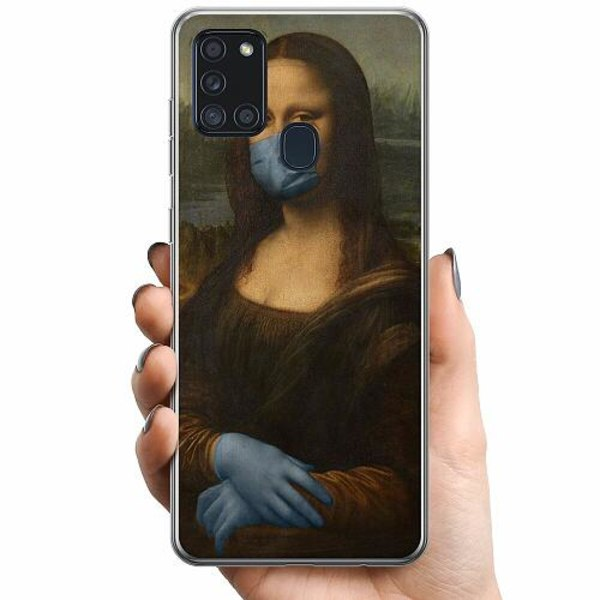 Samsung Galaxy A21s TPU Mobilskal Mona Lisa Mask