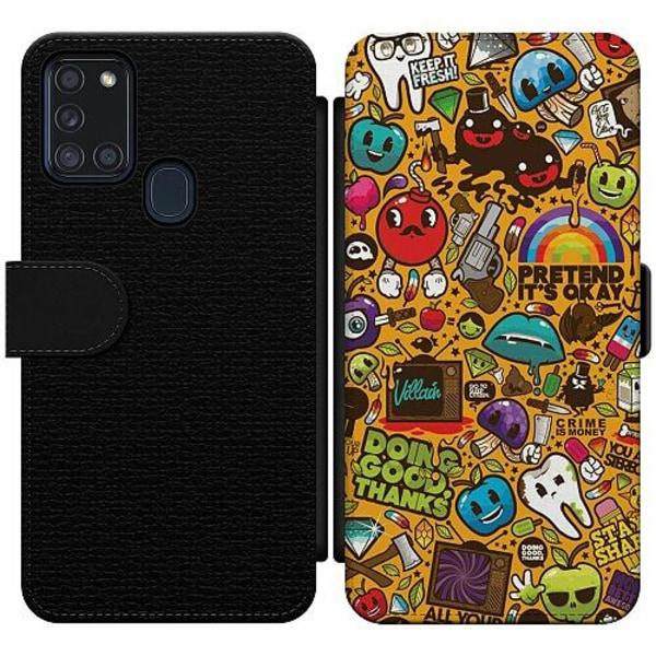 Samsung Galaxy A21s Wallet Slim Case Stickers