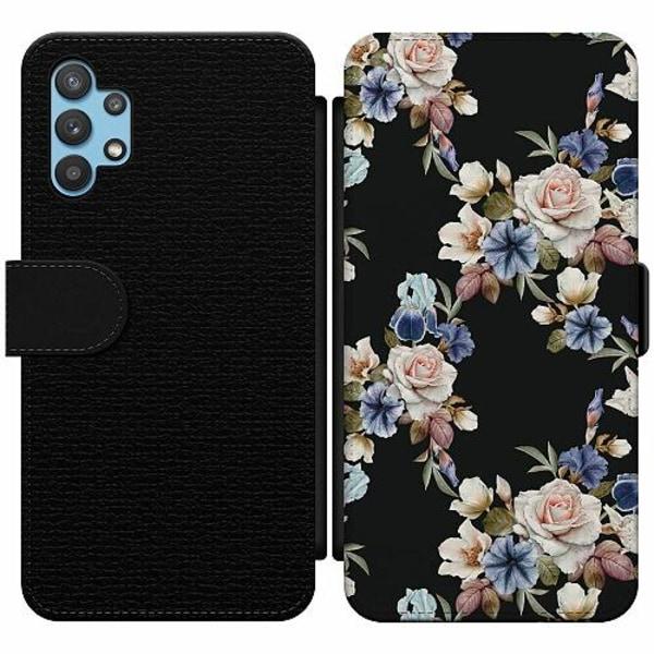 Samsung Galaxy A32 5G Wallet Slim Case Blommor