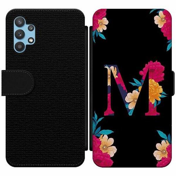 Samsung Galaxy A32 5G Wallet Slim Case Bokstaven - M