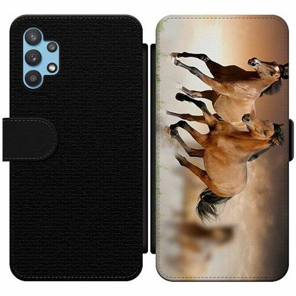 Samsung Galaxy A32 5G Wallet Slim Case Hästar