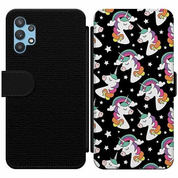 Samsung Galaxy A32 5G Wallet Slim Case Unicorn