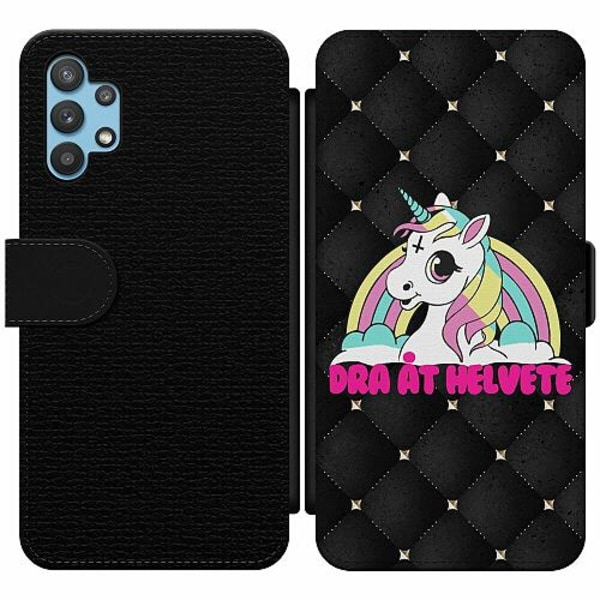 Samsung Galaxy A32 5G Wallet Slim Case Unicorn - Dra Åt @!#