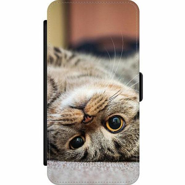 Samsung Galaxy A32 5G Wallet Slim Case Upside Down Cute Cat