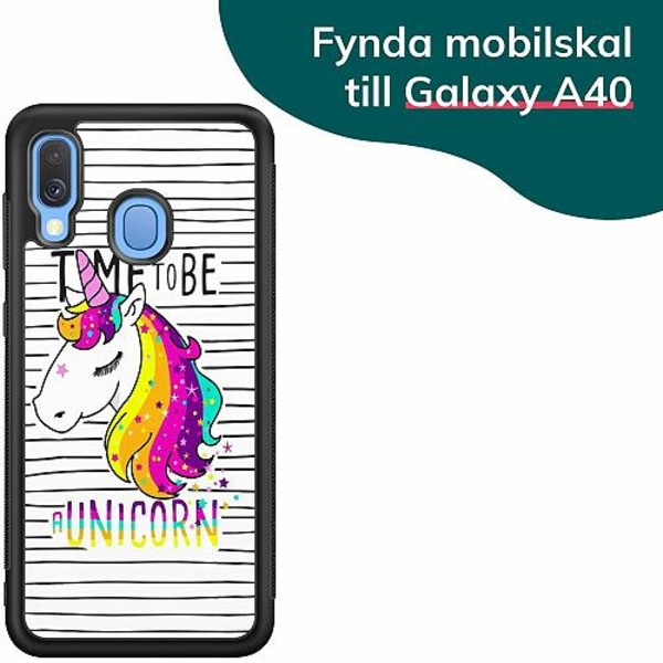 Samsung Galaxy A40 Billigt mobilskal - UNICORN