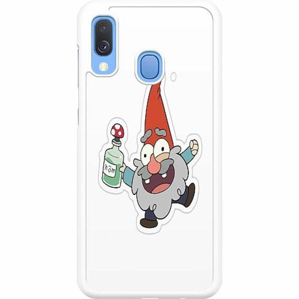 Samsung Galaxy A40 Hard Case (Vit) Happy Gnome