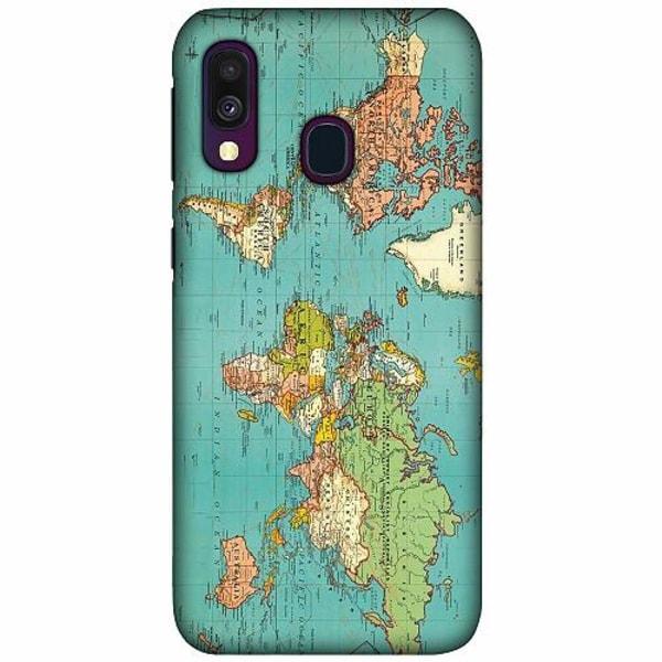 Samsung Galaxy A40 LUX Mobilskal (Matt) World Map