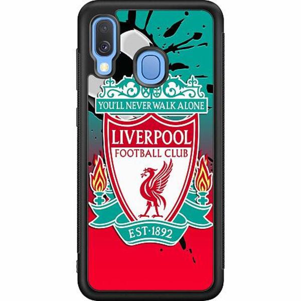 Samsung Galaxy A40 Soft Case (Svart) Liverpool
