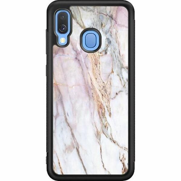 Samsung Galaxy A40 Soft Case (Svart) Marmor