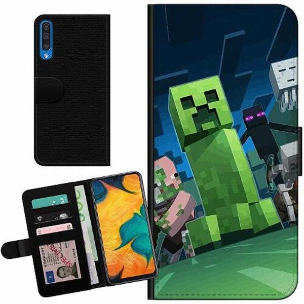 Samsung Galaxy A50 Billigt Fodral MineCraft