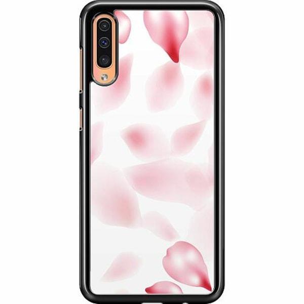Samsung Galaxy A50 Hard Case (svart) Blushing Petals