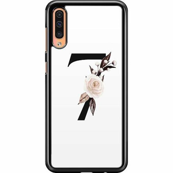 Samsung Galaxy A50 Hard Case (Svart) Bokstäver