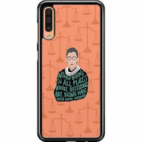 Samsung Galaxy A50 Hard Case (Svart) Ruth Bader Ginsburg (RBG)