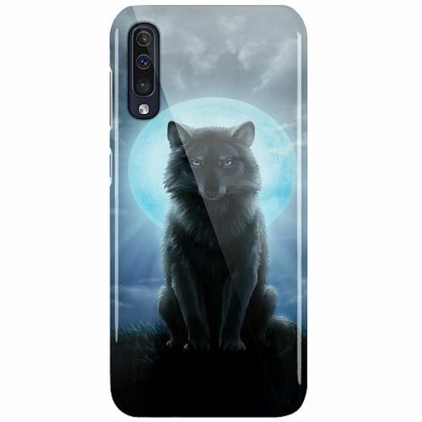 Samsung Galaxy A50 LUX Mobilskal (Glansig) Wolf in the Dark