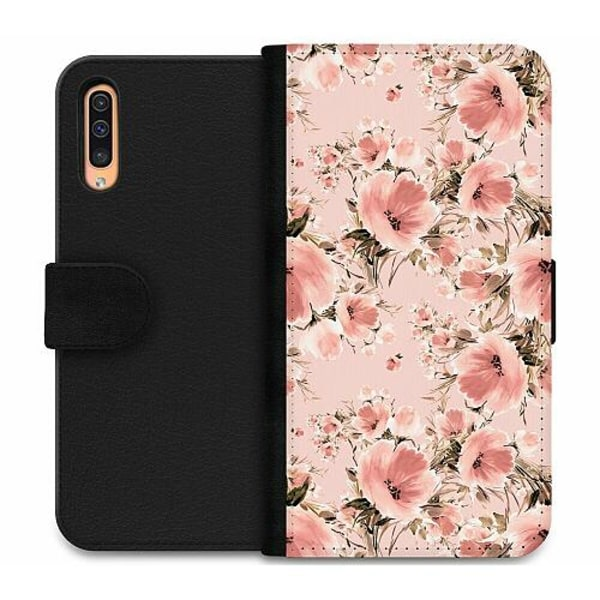 Samsung Galaxy A50 Wallet Case Blommor
