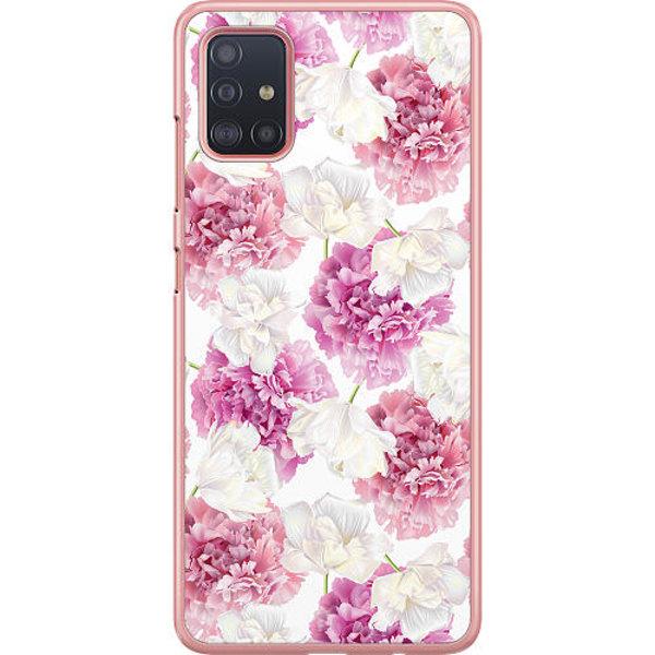 Samsung Galaxy A51 Hard Case (transparent) Blommor