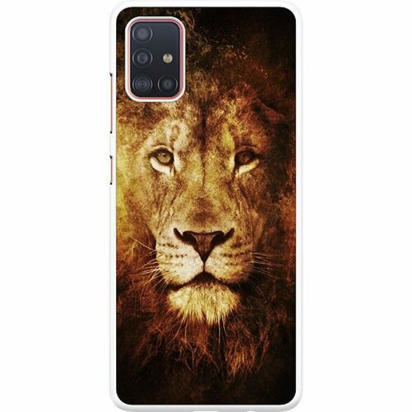 Samsung Galaxy A51 Hard Case (Vit) Lion