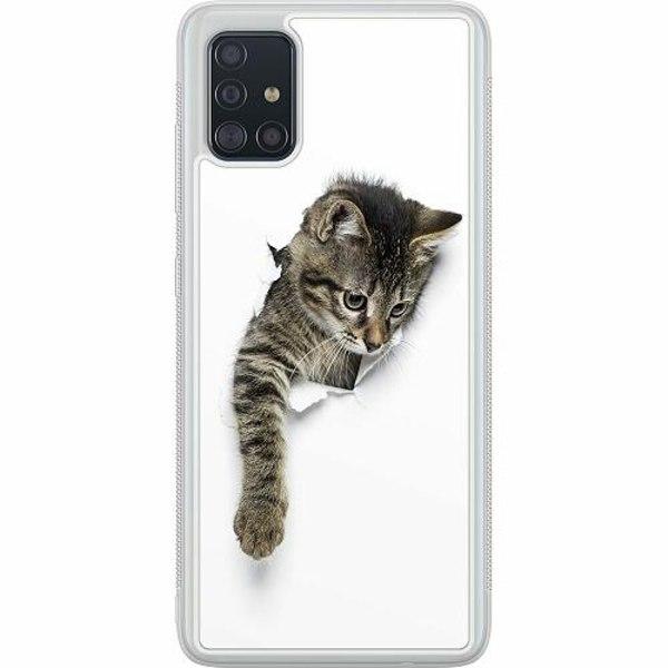 Samsung Galaxy A51 Soft Case (Frostad) Curious Kitten