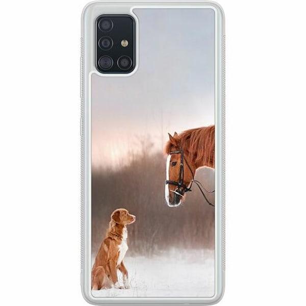 Samsung Galaxy A51 Soft Case (Frostad) Dog Meets Horse