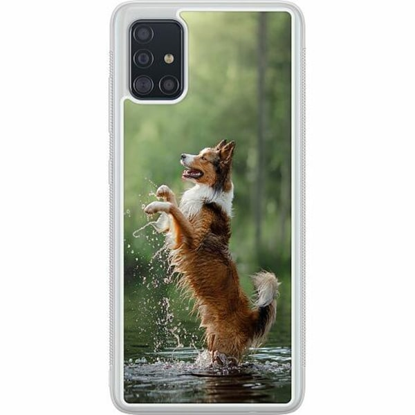 Samsung Galaxy A51 Soft Case (Frostad) Happy Dog