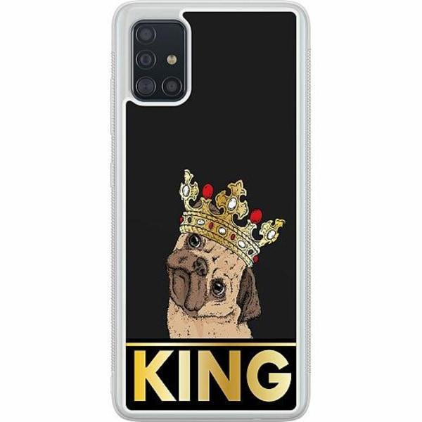 Samsung Galaxy A51 Soft Case (Frostad) KING of all Pugs