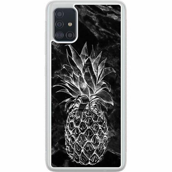 Samsung Galaxy A51 Soft Case (Frostad) Marmor Ananas