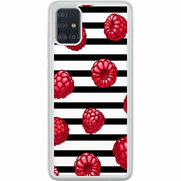 Samsung Galaxy A51 Soft Case (Frostad) Raspberries