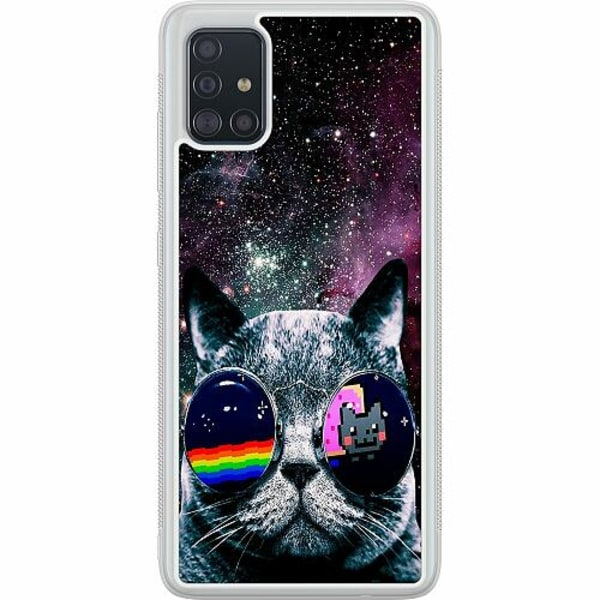 Samsung Galaxy A51 Soft Case (Frostad) Space Cat