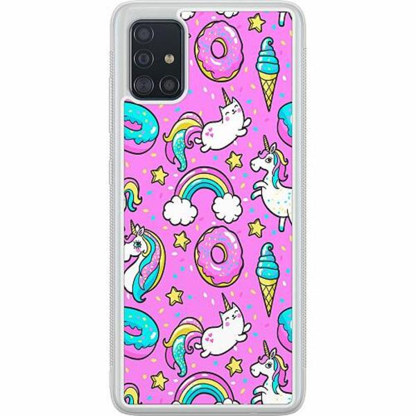 Samsung Galaxy A51 Soft Case (Frostad) Unicorn