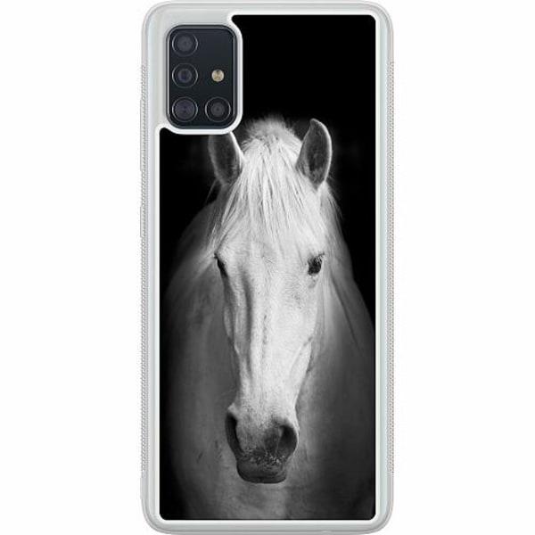 Samsung Galaxy A51 Soft Case (Frostad) Vit Häst