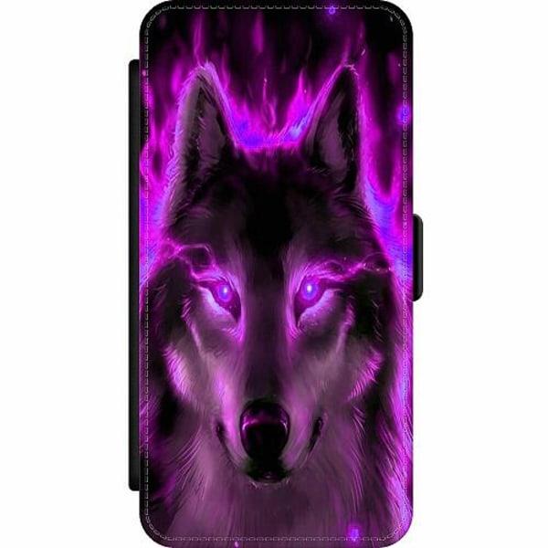 Samsung Galaxy A52 5G Wallet Slim Case Statement Wolf 1055
