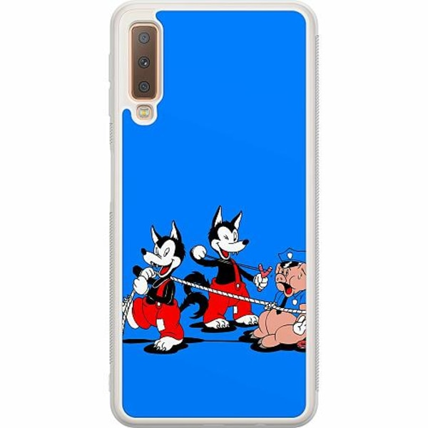 Samsung Galaxy A7 (2018) Soft Case (Frostad) Wolves